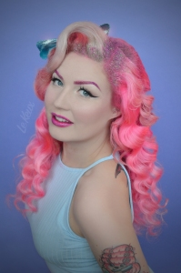 Le Keux - Vintage Salon and Cosmetics - Glitter Shoot - glitter roots retro modern pinup vintage pastel - Diablo 1