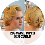 20s wave with pin curls