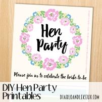 Hen Party Printables - Floral Border Promo