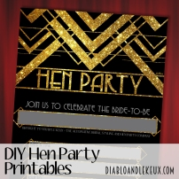 Hen Party Printables - Gold Deco Promo