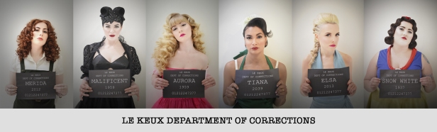 Le Keux - Disney Bound Mugshot Lineup - Department of corrections