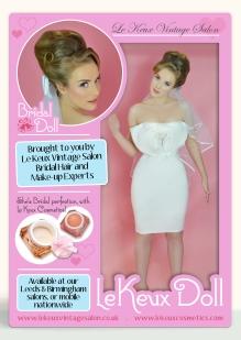 Le Keux Vintage Salon & Cosmetics - Le Keux Dolls - Bridal Doll