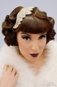 Le Keux Vintage Salon Look Book - 20s marcel waves, bridal, strong 20s MU 3