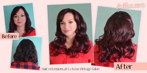 Hair Extensions at Le Keux Vintage Salon - Full set ad