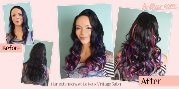 Hair Extensions at Le Keux Vintage Salon - Half set ad