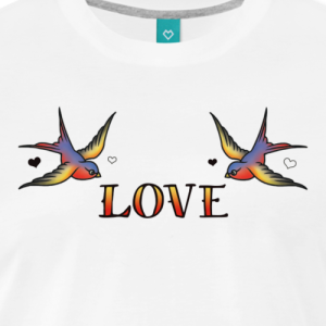 a-pair-of-swallows-in-love-mens-premium-t-shirt