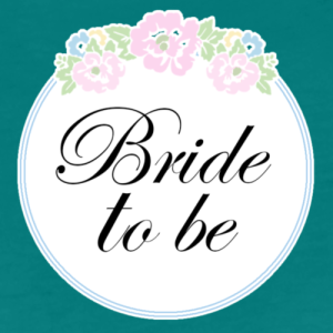 floral-border-bride-to-be-womens-premium-t-shirt